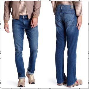 Hudson Byron Straight Leg Jeans Terrence Wash 36